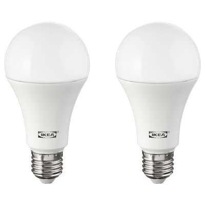 RYET لمبة LED E27 1600 lumen, كرويّة أبيض أوبال