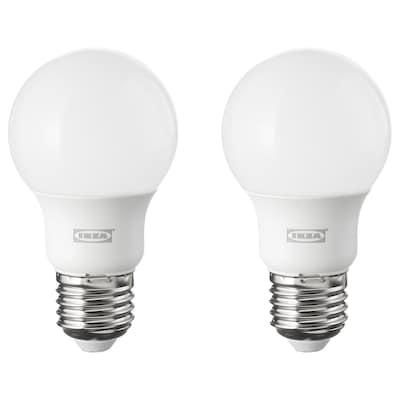 RYET LED bulb E27 600 lumen, globe opal white