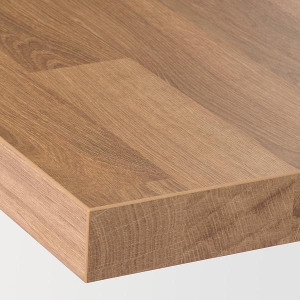 SÄLJAN سطح عمل, شكل السنديان/صفائح رقيقة, 186x3.8 سم