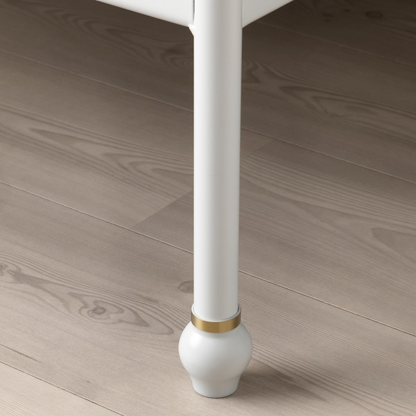 SAGSTUA Bed frame, white/Lönset, 160x200 cm