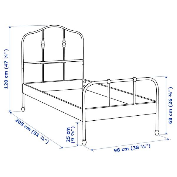 SAGSTUA Bed frame, white/Luröy, 90x200 cm