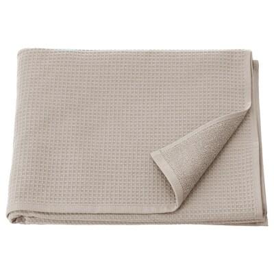 SALVIKEN Bath towel, dark beige, 70x140 cm