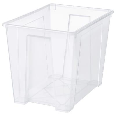SAMLA صندوق, شفاف, 56x39x42 سم/65 ل
