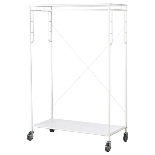 SAMMANKOPPLA Clothes rack, white, 113x50 cm