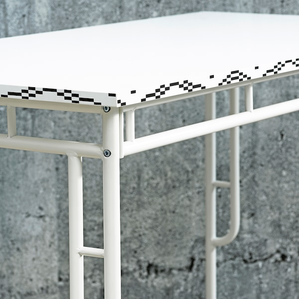 SAMMANKOPPLA Table, white/black, 120x60 cm
