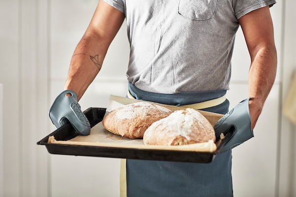 SANDVIVA Oven glove, silicone/blue