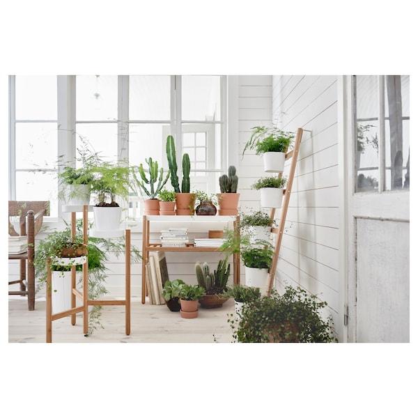 SATSUMAS plant stand with 5 plant pots bamboo/white 3 kg 36 cm 125 cm 12 cm