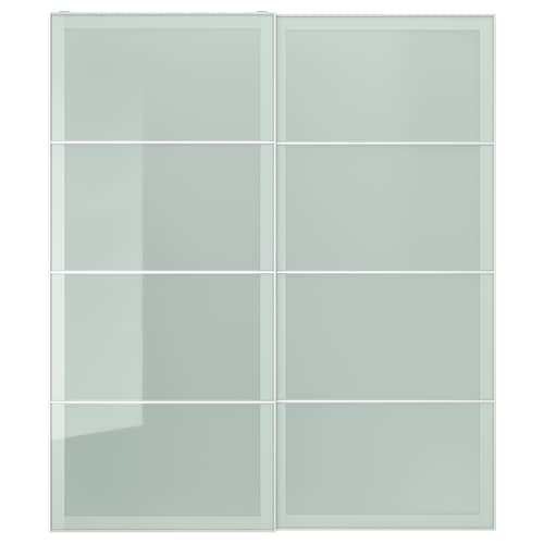 SEKKEN pair of sliding doors frosted glass 200.0 cm 236.0 cm 8.0 cm 2.3 cm