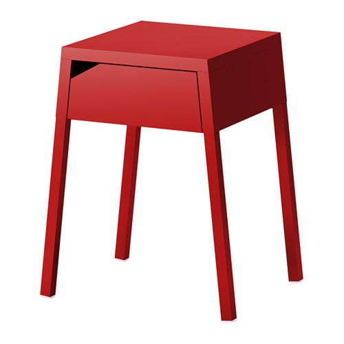 SELJE Bedside table, red