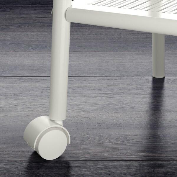 SETSKOG طاولة سرير جانبية, أبيض, 45x35 سم