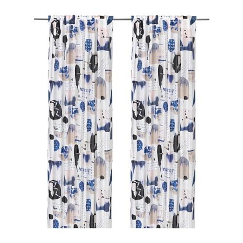 SILVERBUSKE Curtains, 1 pair, multicolour