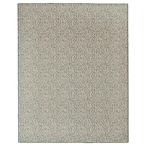 SKELUND rug flatwoven, in/outdoor green-beige 250 cm 200 cm 4 mm 5.00 m² 1295 g/m²