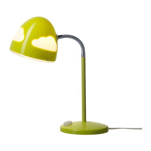 SKOJIG Work lamp IKEA Safety tested and tamper-proof to protect little fingers.  A good reading lamp with no-glare light.