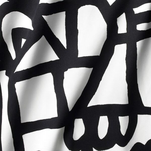 SKUGGBRÄCKA قماش, أبيض/أسود, 150 سم