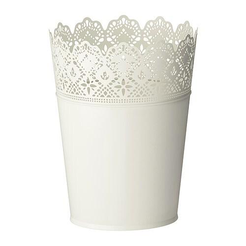SKURAR Plant pot, off-white in/outdoor, off-white