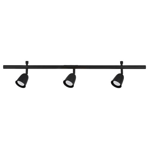 SKURUP ceiling track, 3-spots black 8.5 W 96 cm 8 cm