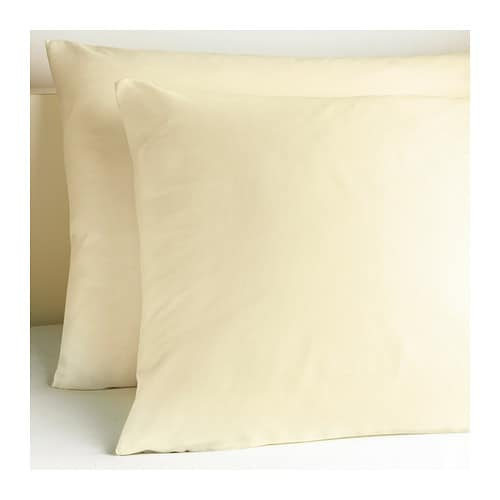 SLUMRA Pillowcase IKEA The polyester/cotton blend is easy to care for since the fabric is less liable to shrink and crease.