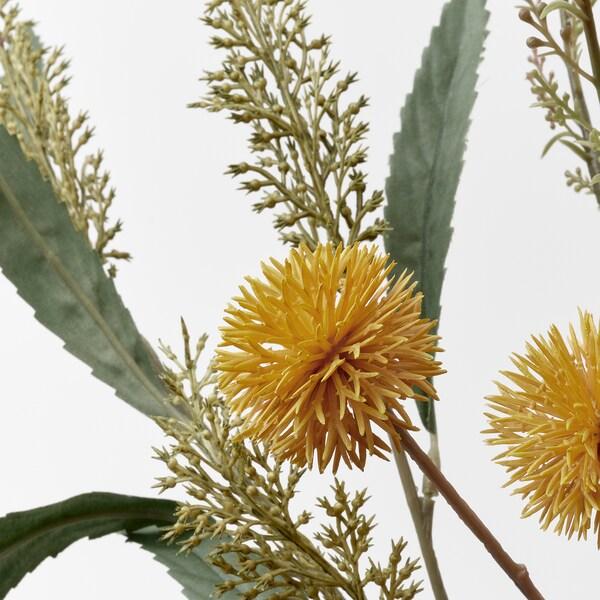 SMYCKA زهور صناعية, داخلي/خارجي أصفر, 60 سم