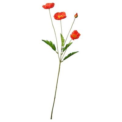 SMYCKA Artificial flower, in/outdoor/Poppy red, 60 cm