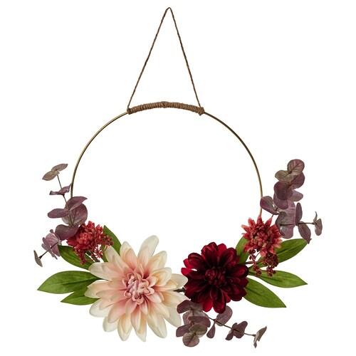 SMYCKA artificial wreath in/outdoor Dahlia 40 cm