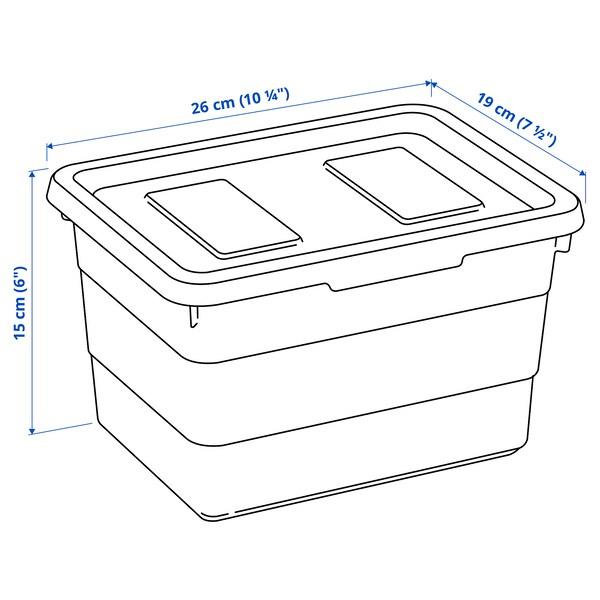 SOCKERBIT صندوق بغطاء, أبيض, 19x26x15 سم