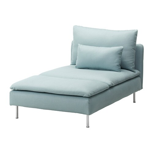 S derhamn chaise longue isefall light turquoise ikea - Chaise empilable ikea ...