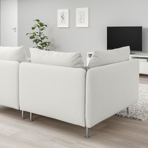 SÖDERHAMN كنبة 3 مقاعد, مع طرف مفتوح/Finnsta أبيض