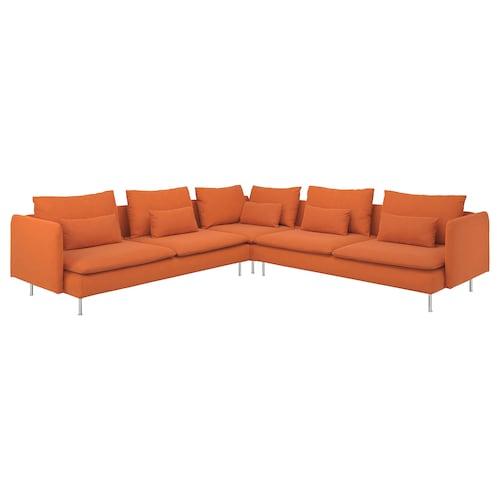 SÖDERHAMN corner sofa, 6-seat Samsta orange 83 cm 69 cm 99 cm 291 cm 291 cm 14 cm 70 cm 39 cm