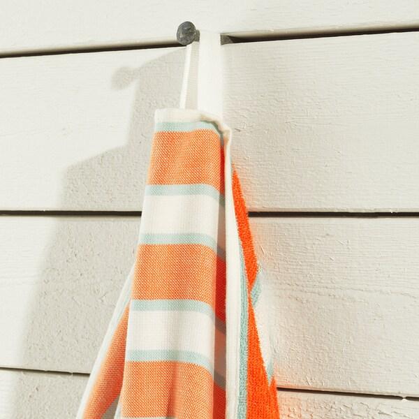 SOLBLEKT Beach towel, striped orange, 100x180 cm