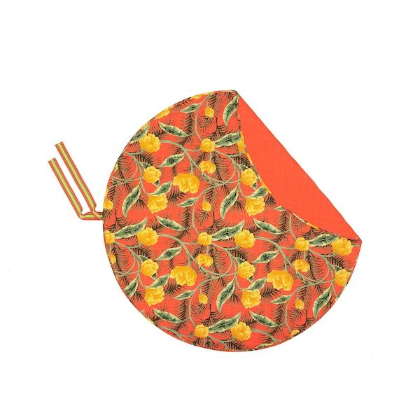 SOLBLEKT Picnic blanket, floral pattern orange, 170 cm