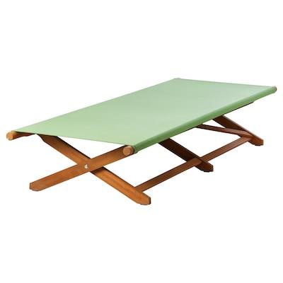 SOLBLEKT Sunbed, foldable eucalyptus/green