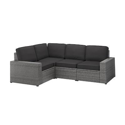 SOLLERÖN Modular corner sofa 3-seat, outdoor, dark grey/Järpön/Duvholmen anthracite