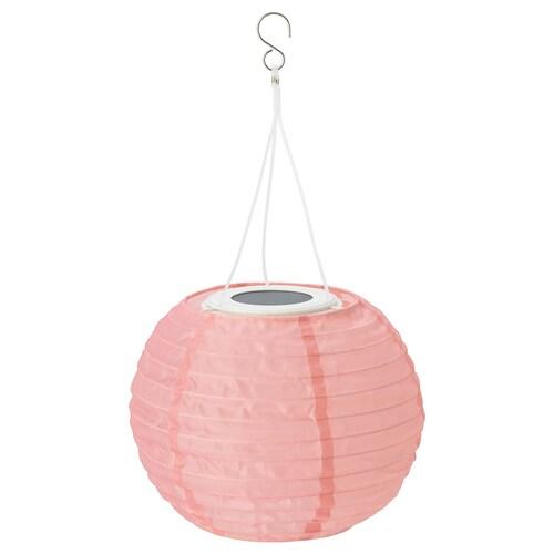 SOLVINDEN LED solar-powered pendant lamp outdoor/globe pink 2 lm 22 cm 19 cm 19 cm