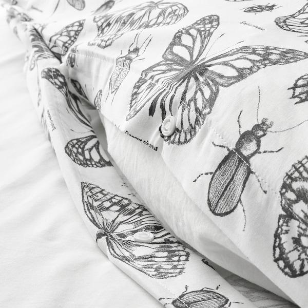 SOMMARMALVA quilt cover and 2 pillowcases white/dark grey 152 /inch² 2 pack 220 cm 240 cm 50 cm 80 cm