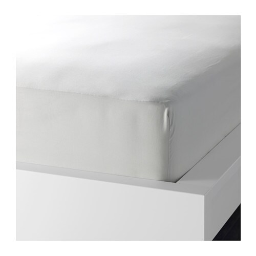 SÖMNIG Fitted sheet IKEA The lyocell/cotton blend absorbs and draws moisture away from your body and keeps you dry all night long.