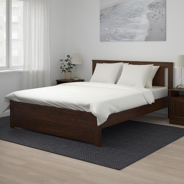 SONGESAND هيكل سرير, بني/Lonset, 140x200 سم