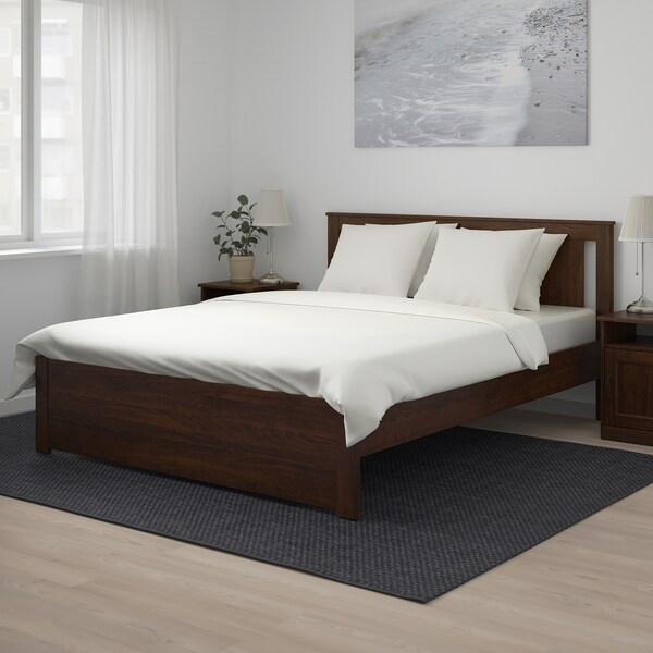 SONGESAND Bed frame, brown/Luröy, 140x200 cm