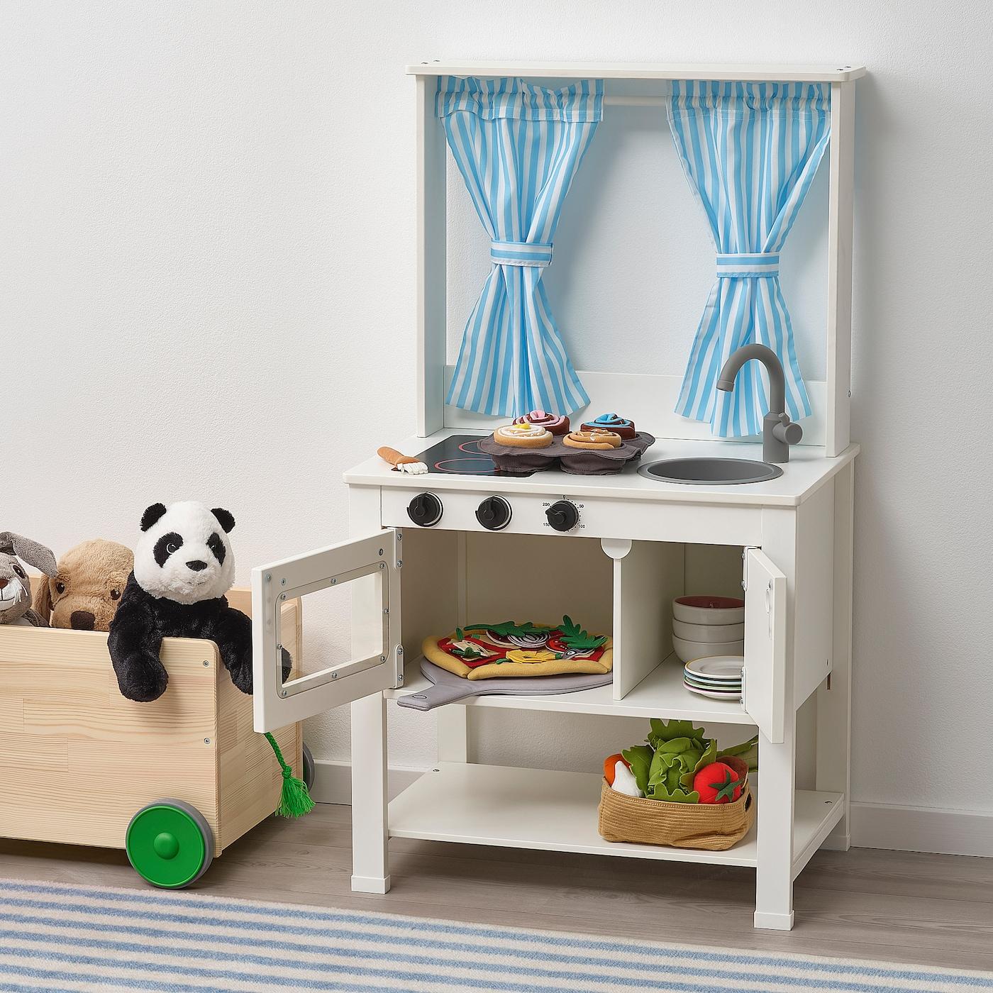 SPISIG Play kitchen with curtains 8x8x8 cm