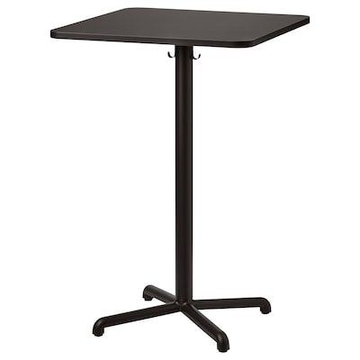 STENSELE Bar table, anthracite/anthracite, 70x70 cm