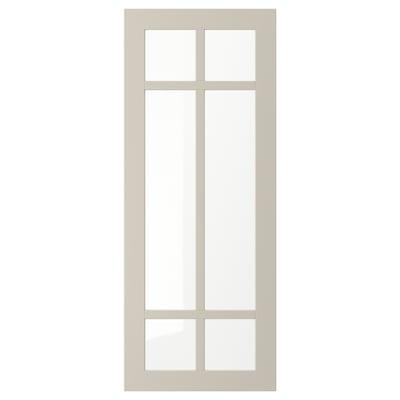 STENSUND Glass door, beige, 40x100 cm