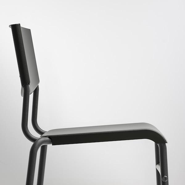 STIG مقعد مرتفع مع مسند ظهر, أسود/أسود, 74 سم