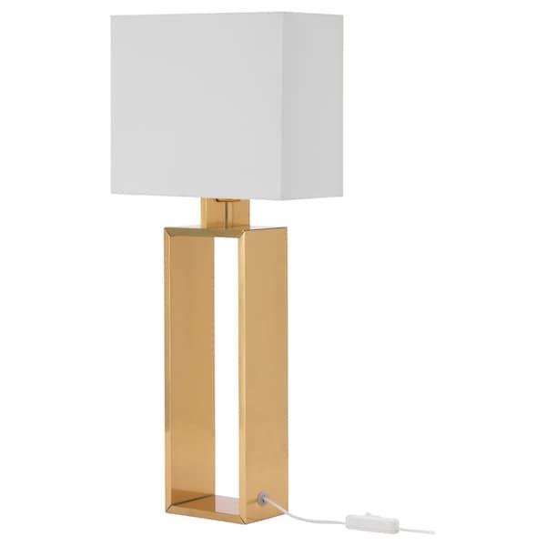 STILTJE مصباح طاولة, أبيض-عاجي/لون نحاسي
