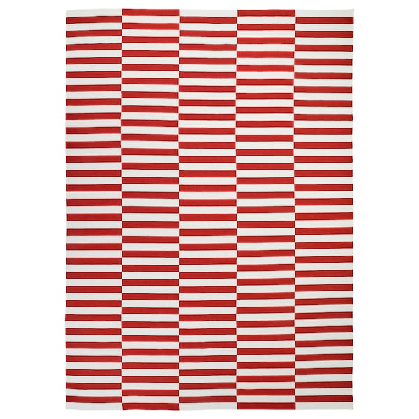 STOCKHOLM 2017 Rug, flatwoven, handmade/striped red, 250x350 cm
