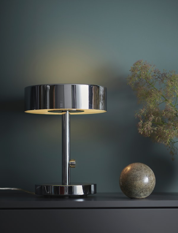 STOCKHOLM 2017 Table lamp, chrome-plated