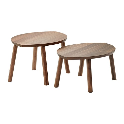 STOCKHOLM Nest of tables, set of 2 IKEA The table surface in walnut veneer and legs in solid walnut give a warm, natural feeling to your room.