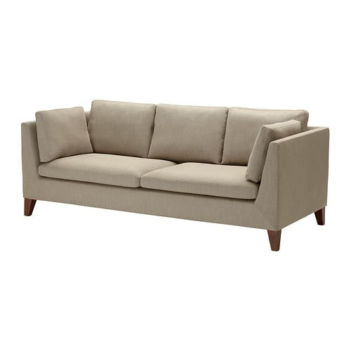 STOCKHOLM Three-seat sofa IKEA The cover is easy to keep clean as it is removable and can be dry cleaned.