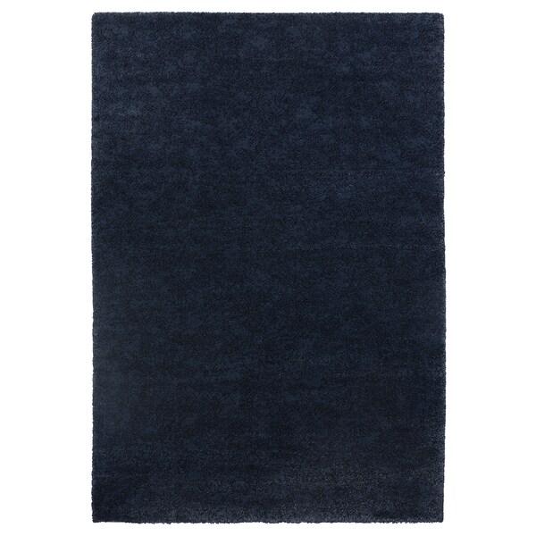 STOENSE Rug, low pile, dark blue, 133x195 cm