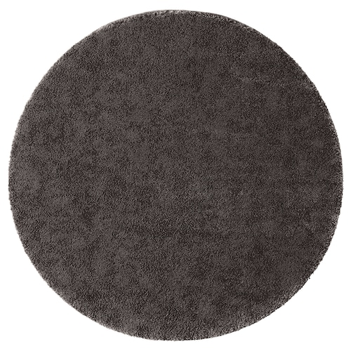 STOENSE rug, low pile dark grey 130 cm 18 mm 1.33 m² 2560 g/m² 1490 g/m² 15 mm