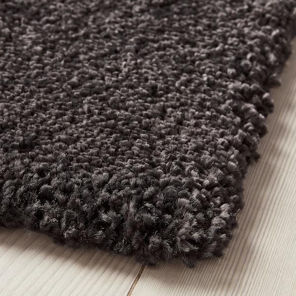 STOENSE Rug, low pile, dark grey, 170x240 cm