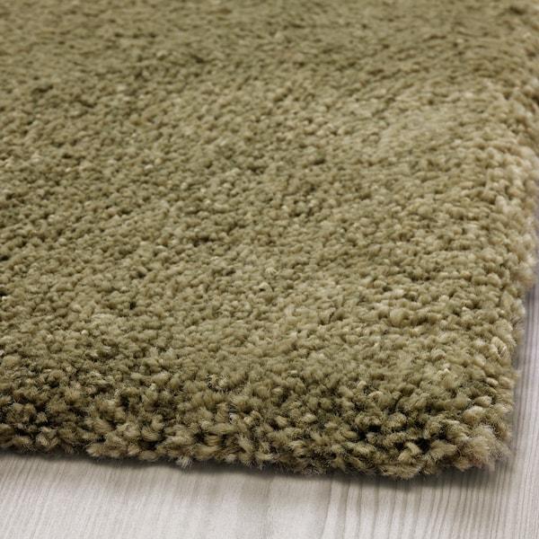 STOENSE Rug, low pile, light olive-green, 170x240 cm